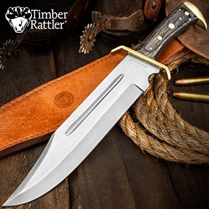 Amazon.com: Timber Rattler Western Outlaw Bowie cuchillo ...