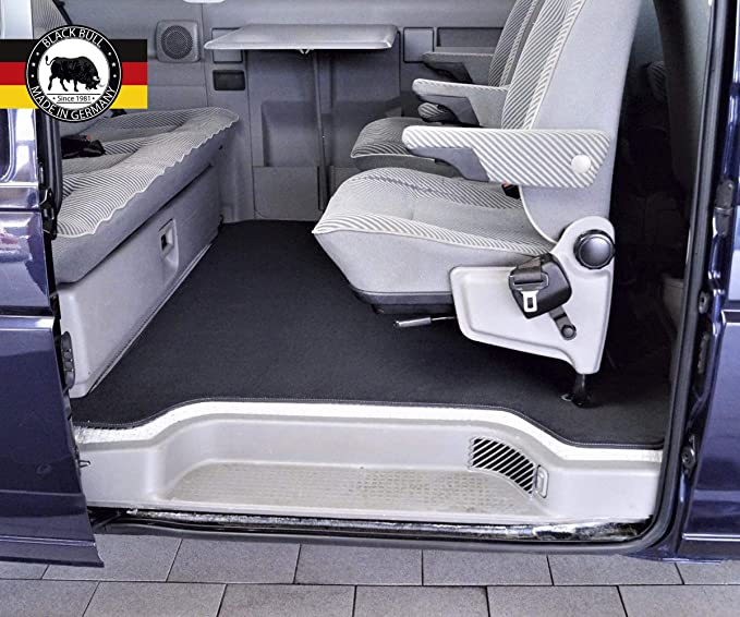 Black Bull Made In Germany Autofußmatte Mv 01 Für T4 Multivan Ab 96 Gastraum Hochflor Premium Velours Dunkel Anthrazit Slb Original Passform Fußmatten Auto Fußteppiche Auto