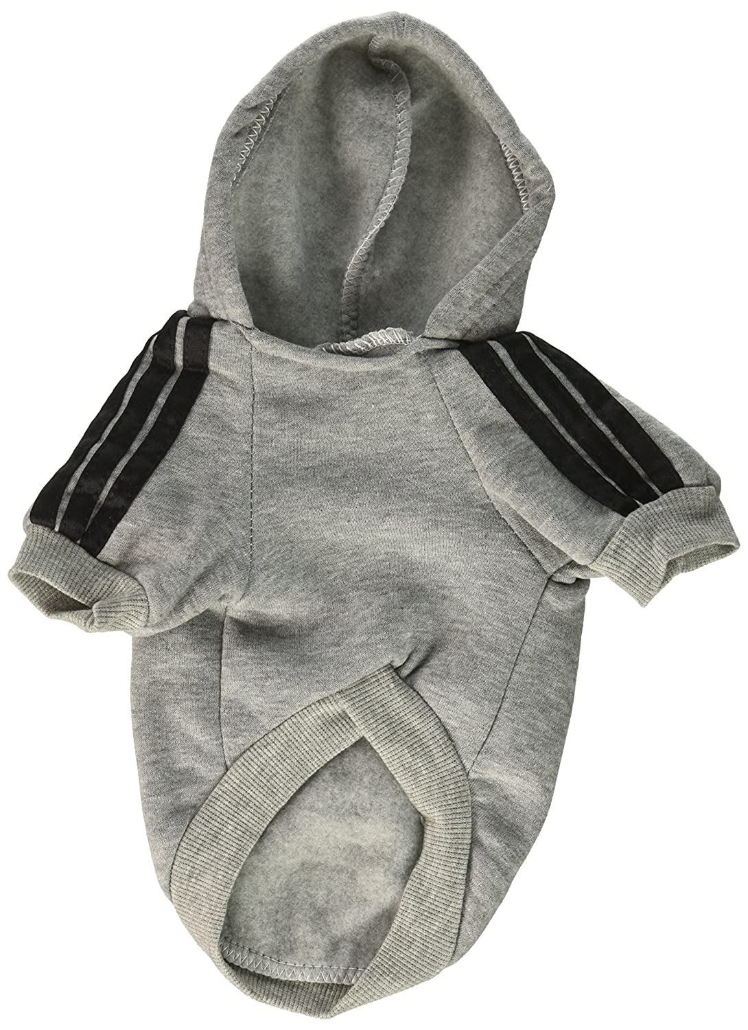 Amazon.com : Adidog Grey Dog Sweatshirt Hoodie Jacket - For the Best Fashion Pets (M) : Pet Coats : Pet Supplies