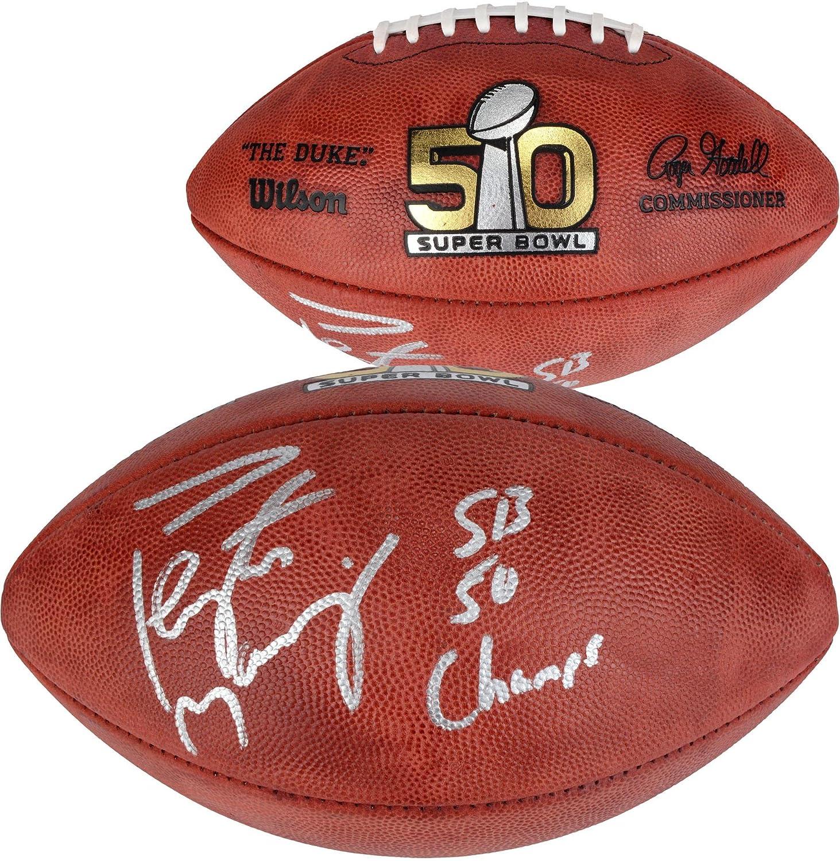 Peyton Manning Denver Broncos Autographed Super Bowl 50 Pro Football with'SB Champs' Inscription - Fanatics Authentic Certified