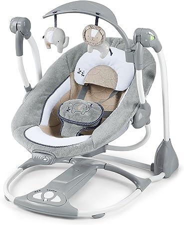 Se convierte de columpio en asiento vibrador con EasyLock,El asiento de gran tamaño cuenta con tela