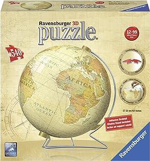 Ravensburger puzzleball historic world map 540 pieces amazon ravensburger vintage globe 540pc 3d jigsaw puzzle gumiabroncs Choice Image