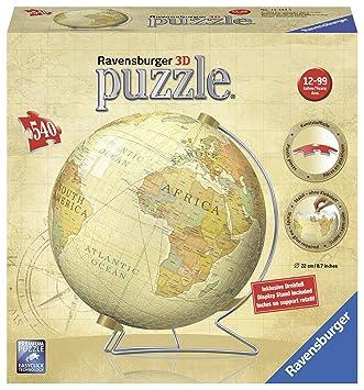 Puzzles Globus in deutscher Sprache 3D Puzzle-Ball 540 Teile Spiel Deutsch 2017