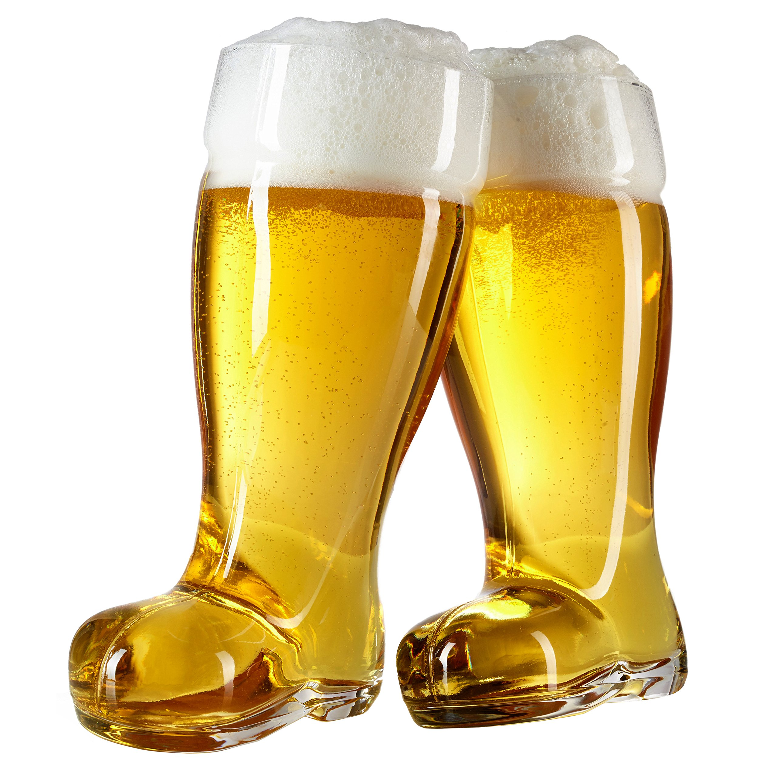 2 Liter Beer Boot Glass Set - Oktoberfest Beer Boots - Set of 2 - MyGift by MyGift
