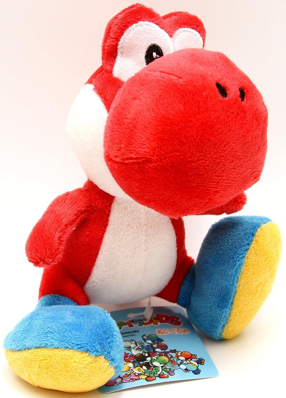 San-ei - Peluche de Yoshi de Super Mario, color rojo: Amazon.es: Juguetes y juegos