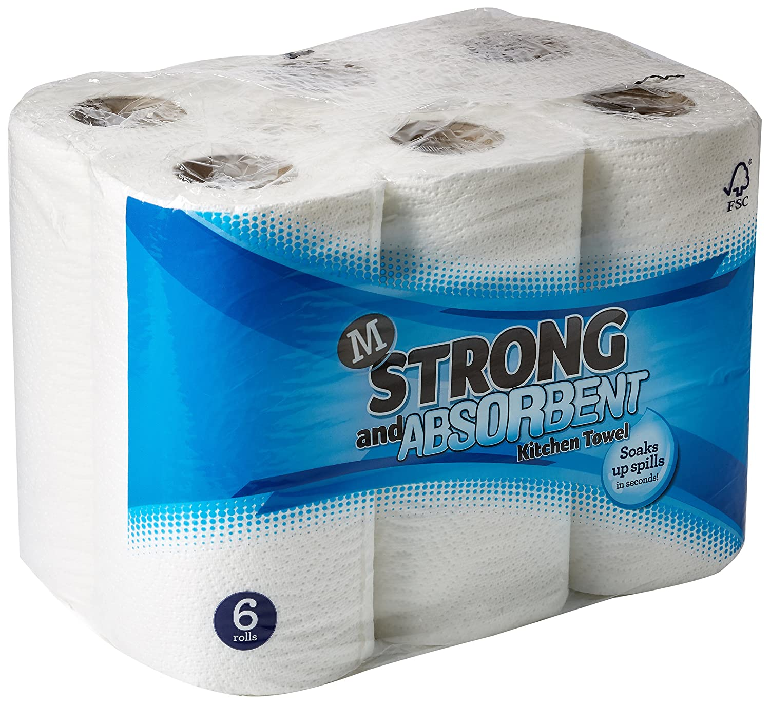 Morrisons Strong and Absorbent Kitchen Towel, 6 rolls: Amazon.co.uk ...