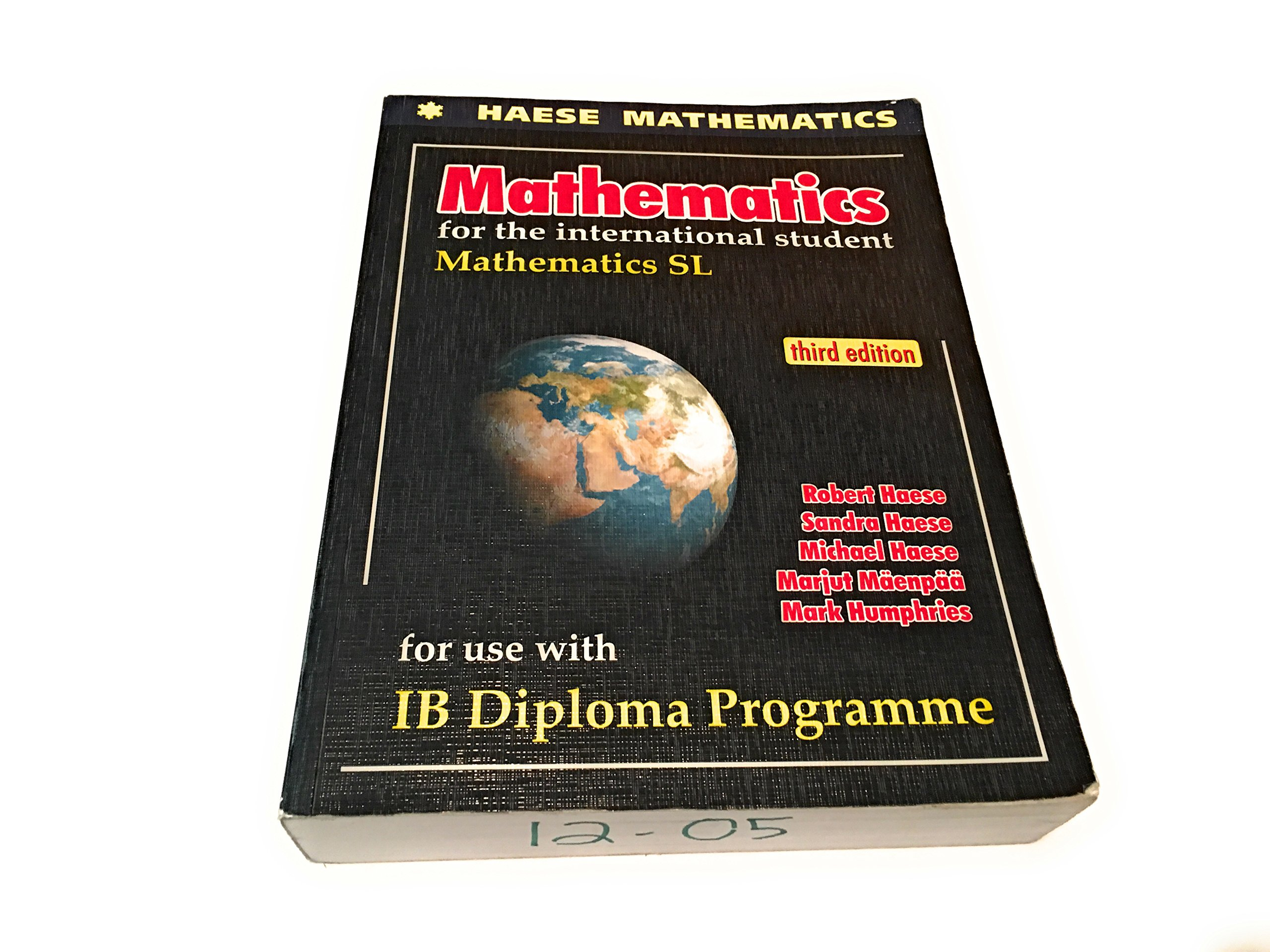 Mathematics for the international student Mathematics SL