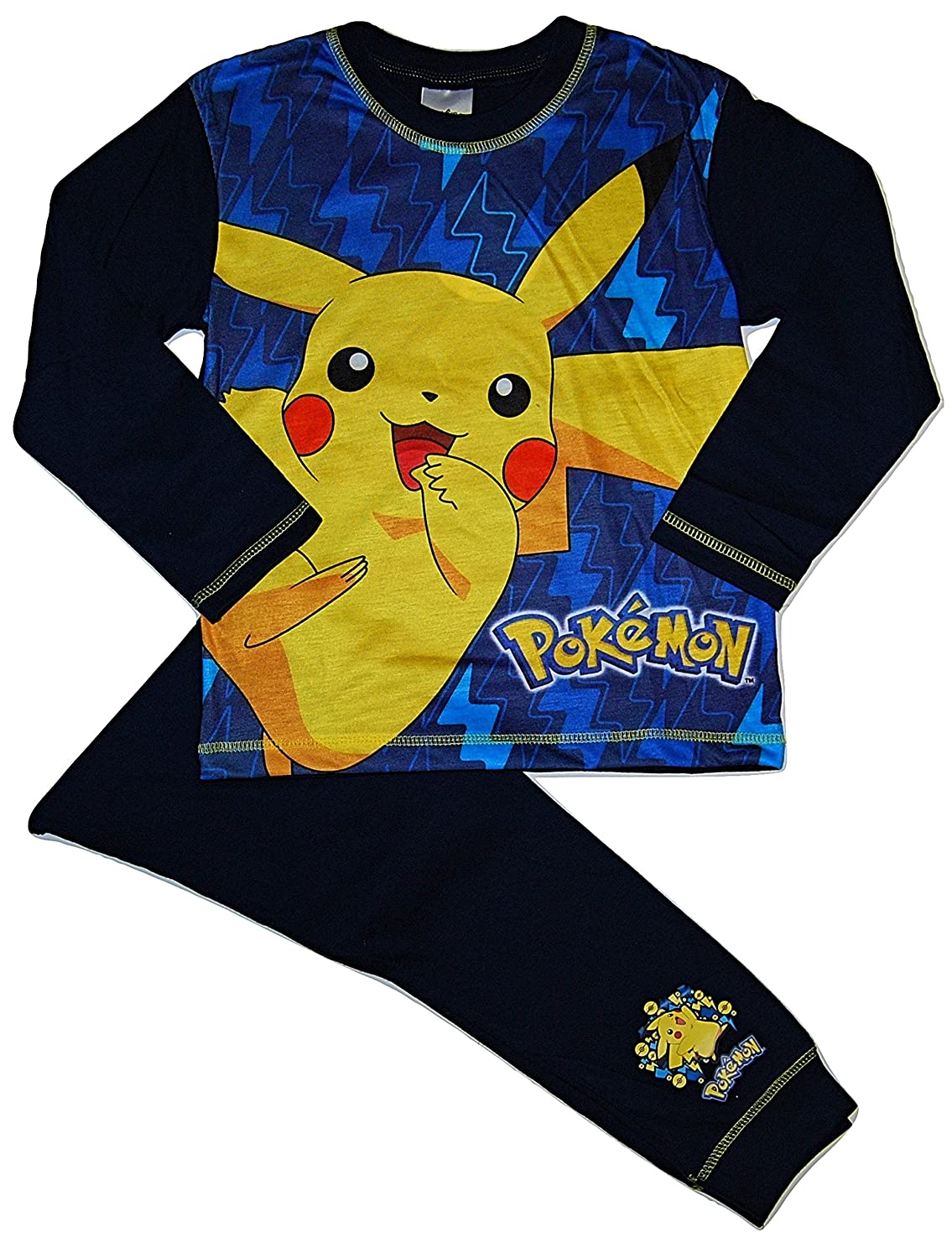 Boys Pokemon Pikachu Pyjamas Blue 5-6 11-12 Years