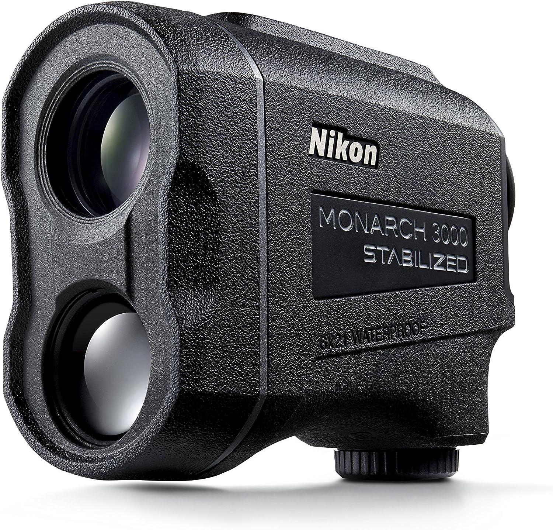 Nikon Monarch 3000 - Telémetro láser estabilizado, Unisex, Color Negro, tamaño Mediano