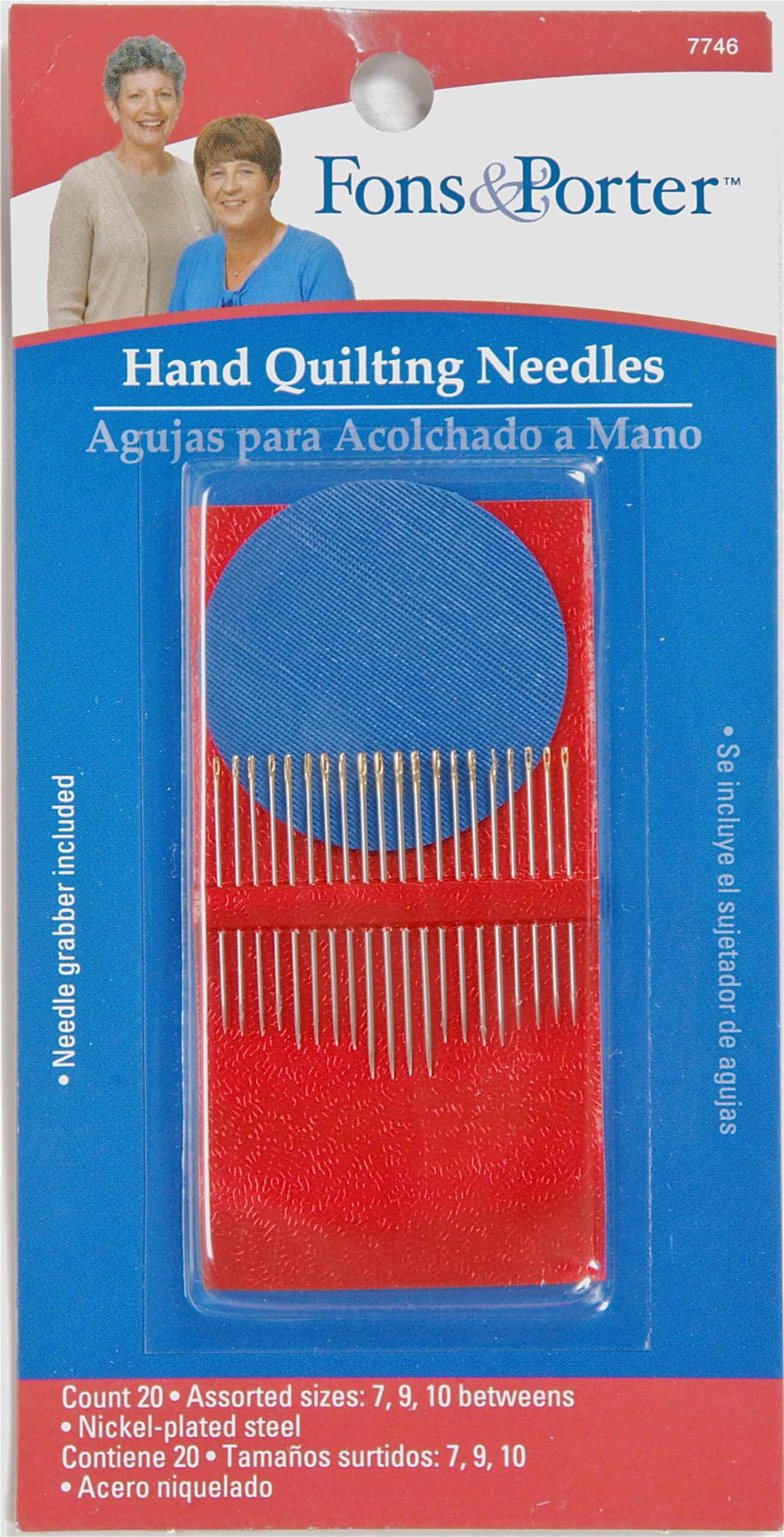 Fon & Porter Hand Quilting Needles, Size 7, 9, 10, 20-Count