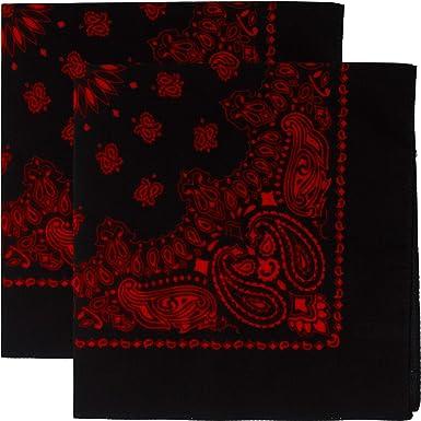 Red White /& Black Paisley Patterned Bandana Neckerchief