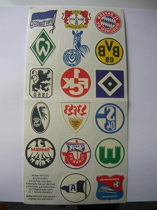 Pegatinas Fútbol Bundesliga futbolín Tatuajes temporada 2000/01 ...