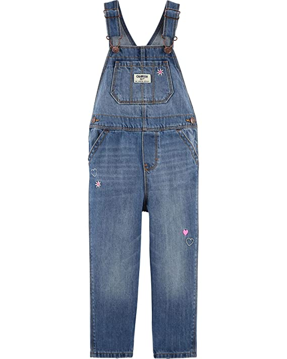 Osh Kosh Girls' Toddler World's Best Overalls, Upstate, 2T best girls' overalls