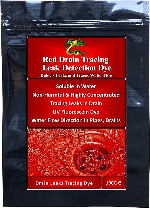 Detección de fugas de agua tinte eurofishing fugas en desagües itchi piscinas Hydra fluorescentes de trazado tinte 100gm - rojo