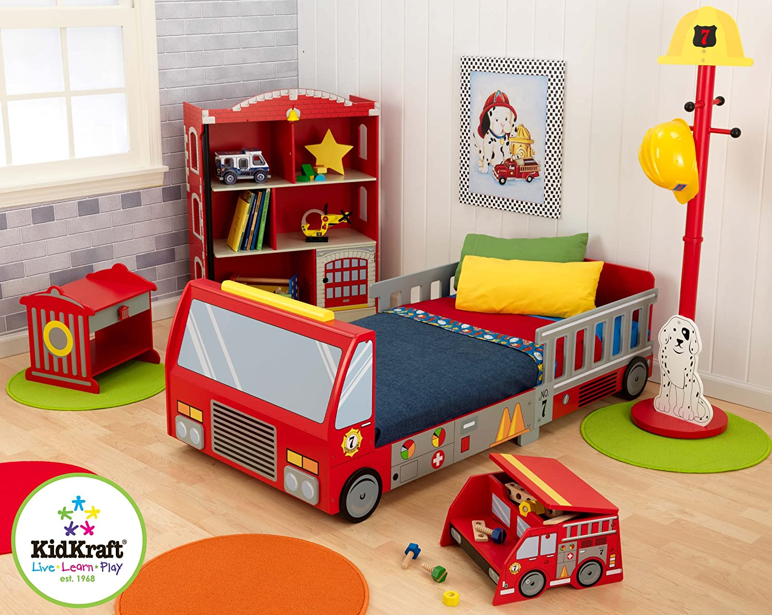 Baby jeep bed - Kidkraft Fire Truck Toddler Bed