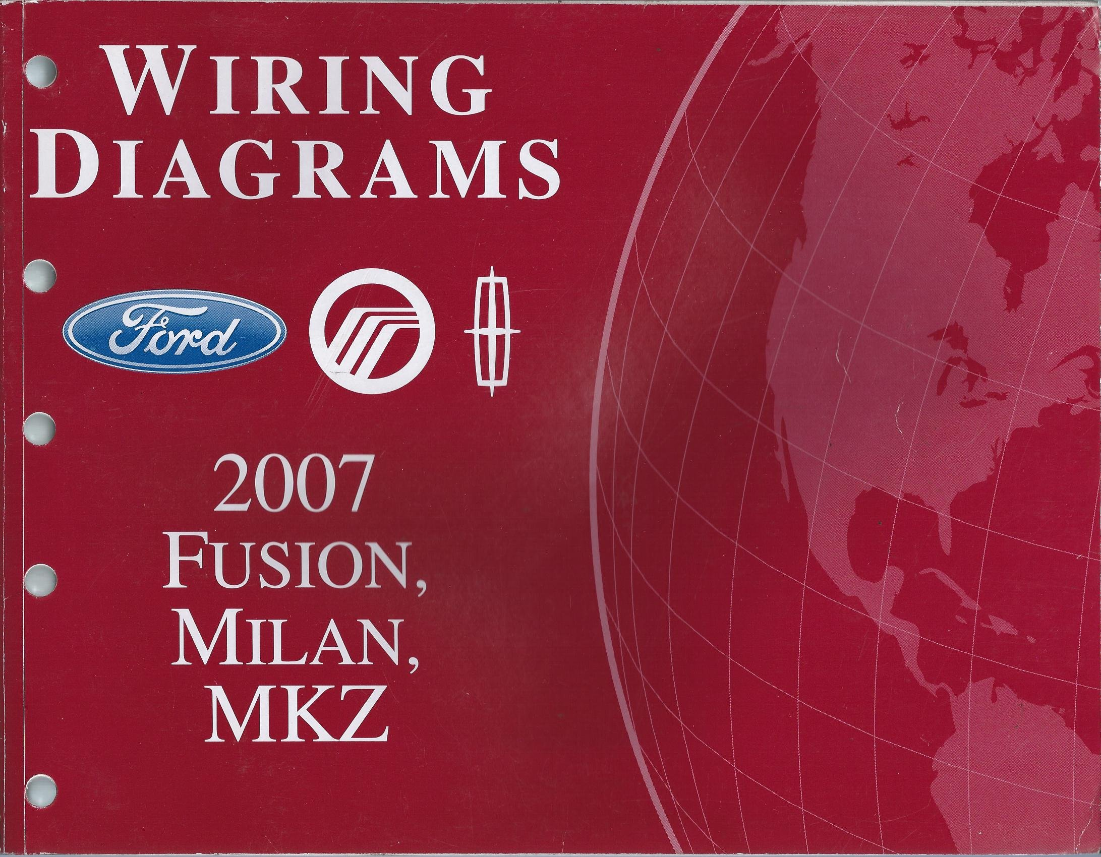 2007 ford fusion, mercury milan, lincoln mkz wiring diagrams paperback –  2007