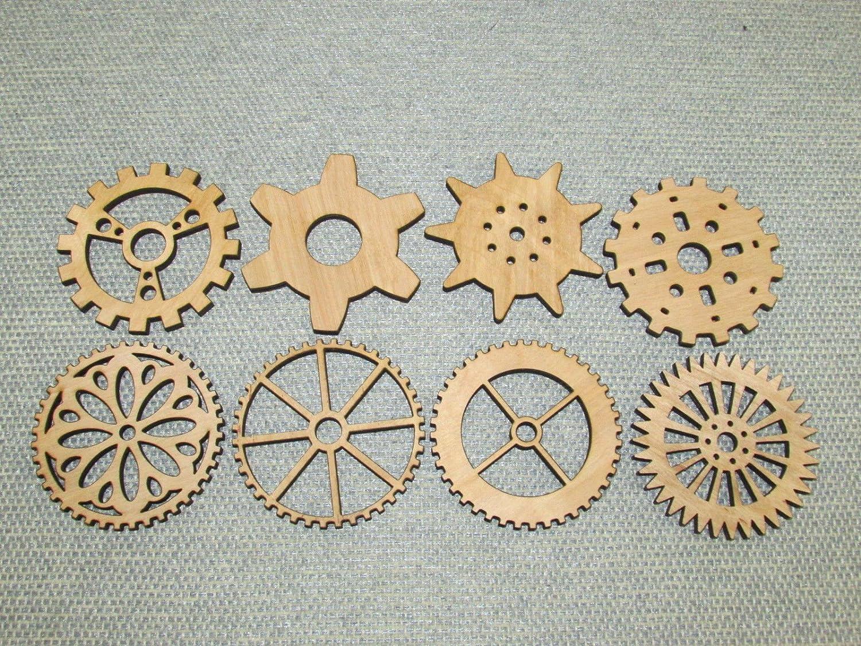 Wooden Steampunk Gears Cogs Gear Shapes Rotating Gears Cog Wheel Gear Clock