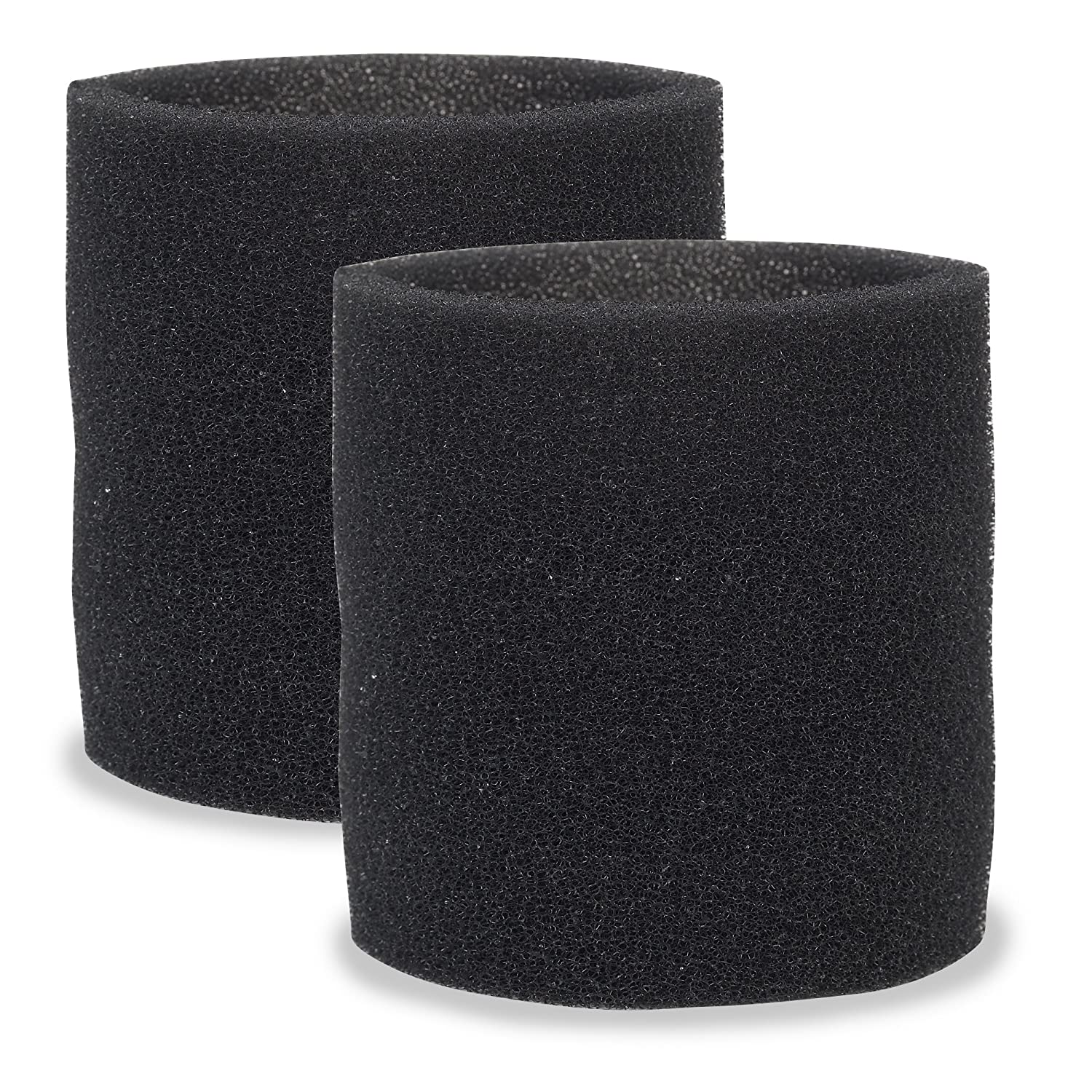 Multi-Fit Wet Vac Filters VF2001TP Foam Sleeve/Foam Filter For Wet Dry Vacuum Cleaner (2 Pack Wet Vac Filter Foam Sleeve) Fits Most Shop-Vac, Vacmaster & Genie Shop Vacuum Cleaners