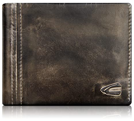 76a6a13ca76 Camel Active large genuine leather wallet for men and women, high-quality  purse made of vintage leather, anthracite: Amazon.co.uk: Luggage