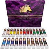 Oil Paint Set - 21ml x 24 Tubes - Artists Quality Art Paints - Oil-Based Color - Professional Painting Supplies - MyArtscape