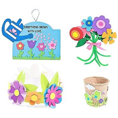Spring Summer Craft Kits Set - Flower Bouquet, Flower Pot, Crown & More! - Children\'s Activities for Classroom, Kid\'s Sunday School Homeschooling Supplies Scrapbooking 2020 DIY Refrigerator Decor: Toys & Games [5Bkhe2002426]
