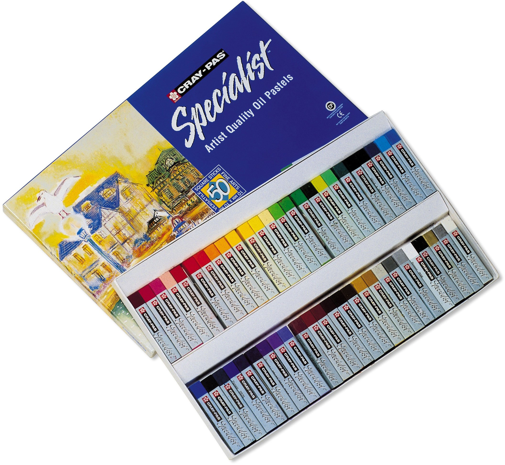 Sakura ESP50 50-Piece Cray-Pas Specialist Assorted Colors Oil Pastel Set by Sakura