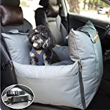 QUEENS NOSE Dog Car Seat - Pet Car Seat with Front & Back Safety Protectors - Dog Booster Seat for Small and Medium Dogs…