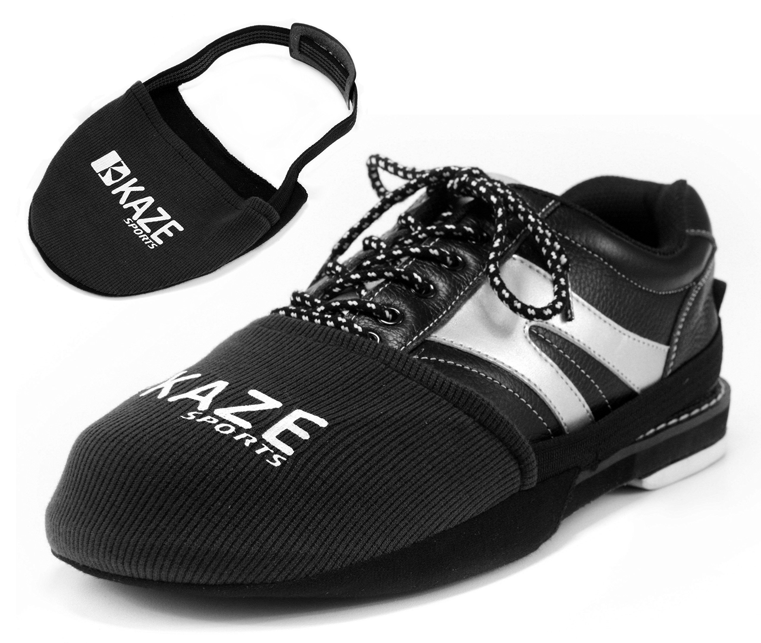 KAZE SPORTS Bowling Shoe Slider, Black, 3 Pack