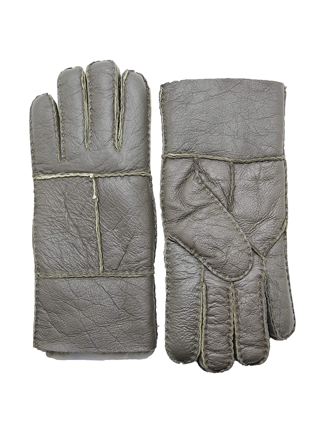 YISEVEN Men's Rugged Shearling Sheepskin Gloves Charm Leather Fashion Company