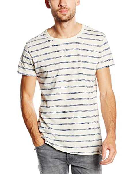 Stripe tee, Camiseta Hombre, Azul (Snorkel Blue), Large Lee