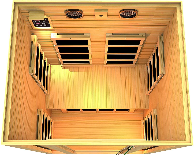 amazon com jnh lifestyles 2 person far infrared sauna 7 carbon