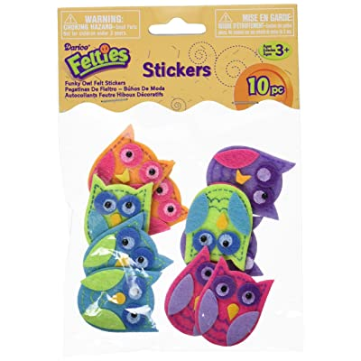 Darice Feltie Stickers 10/Pkg-Funky Owl: Arts, Crafts & Sewing