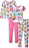 Shopkins Girls' 4-Piece Cotton Pajama Set