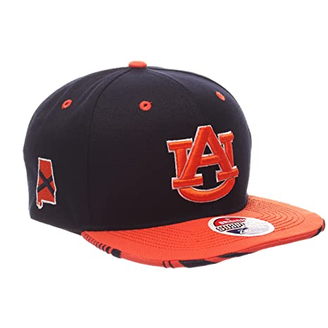 4bd55810fb9 Amazon.com   ZHATS NCAA Auburn Tigers Adult Men s Drop Step Snapback ...