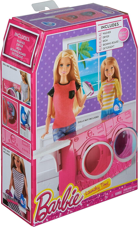 Amazon.es: Barbie Washer & Dryer Set Estuche de Juego de muñeca ...