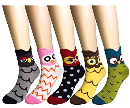Amazon.com: WEILAI SOCKS Womens Fashion Cute Animal Design Colorful Antibacterial Breathable Dress Socks: Clothing
