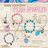 Hapinest Make Your Own Clay Jewelry Arts and Crafts Kit for Girls Gifts Ages 8 Years and Up - 3 Bracelets and 3…
