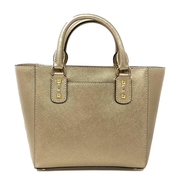 8bc03f20fe49db Amazon.com: Michael Kors Small Sandrine Stud Crossbody Bag (Pale Gold/Gold  Tone Hardware): Clothing