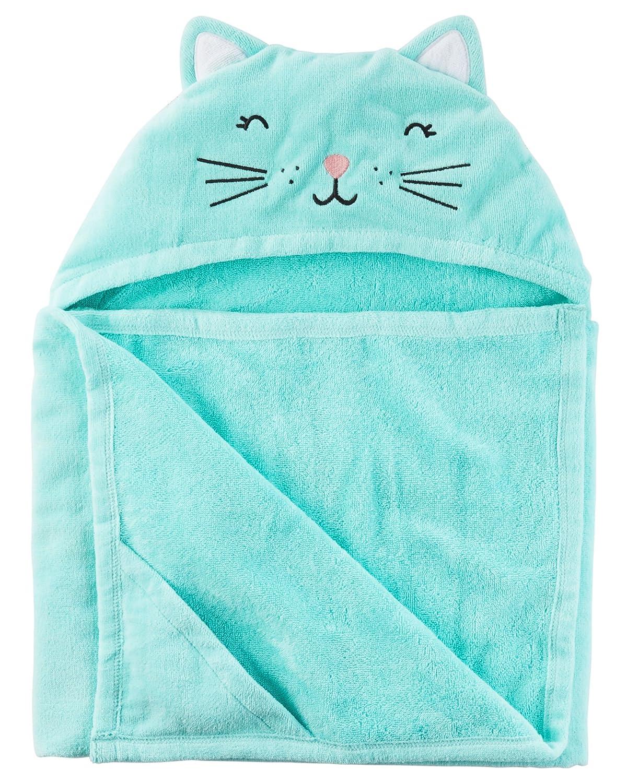 Carter 's Catフード付きタオル、ミント   B06XQ5HN5C