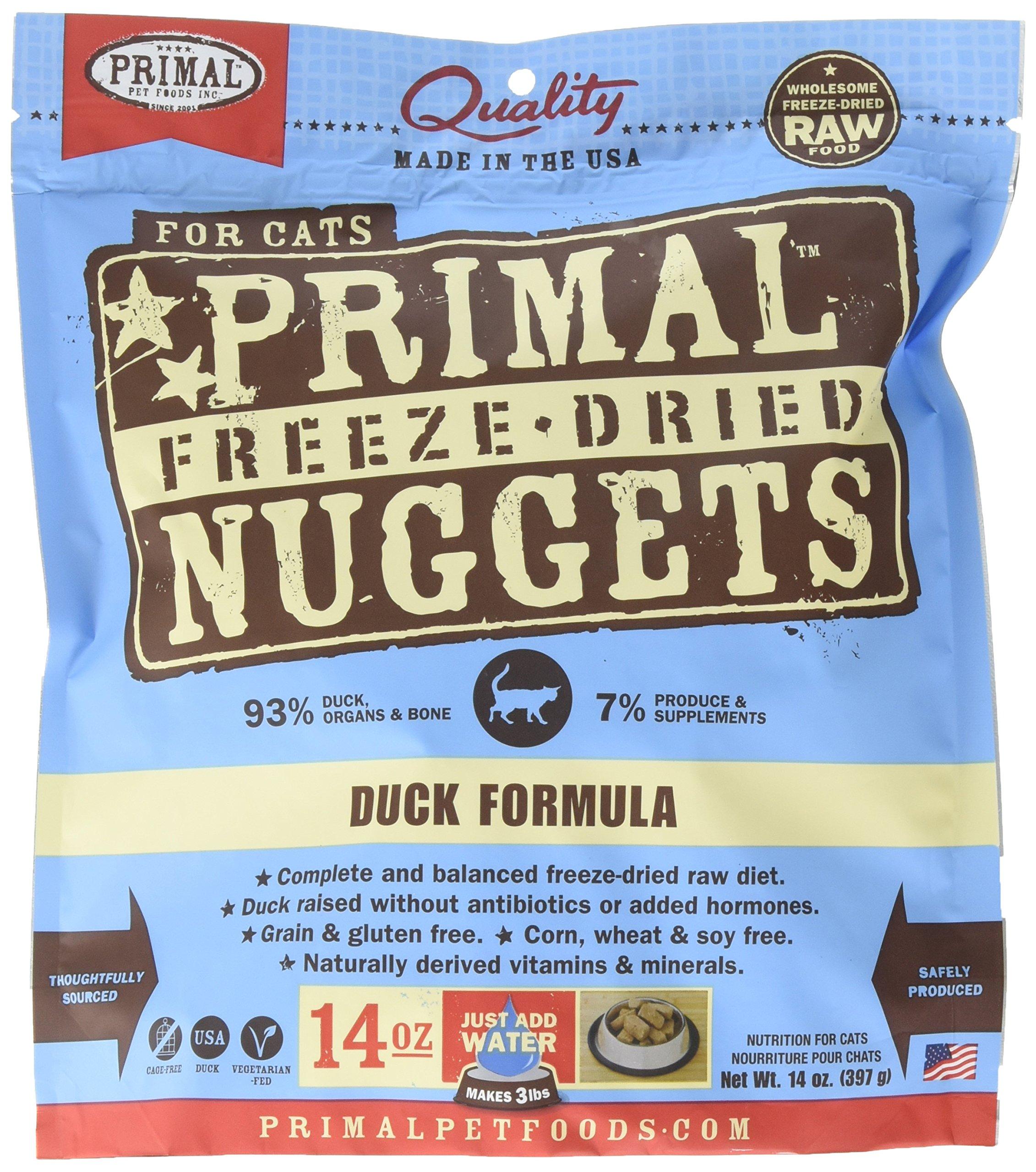 Primal Freeze Dried Feline Duck Formula - 14 Oz. by Primal Pet Foods