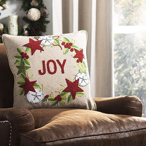 Amazon.com: Safavieh Home Jolly Joy - Almohada decorativa ...