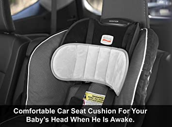 lebogner Car Seat Head Support Band Comfortable Baby and Toddler Head Holder Adjustable Children Headrest Strap For Head And Neck Relief Kids Belt For Safe Sleeping In the Car Seat And Booster Seat