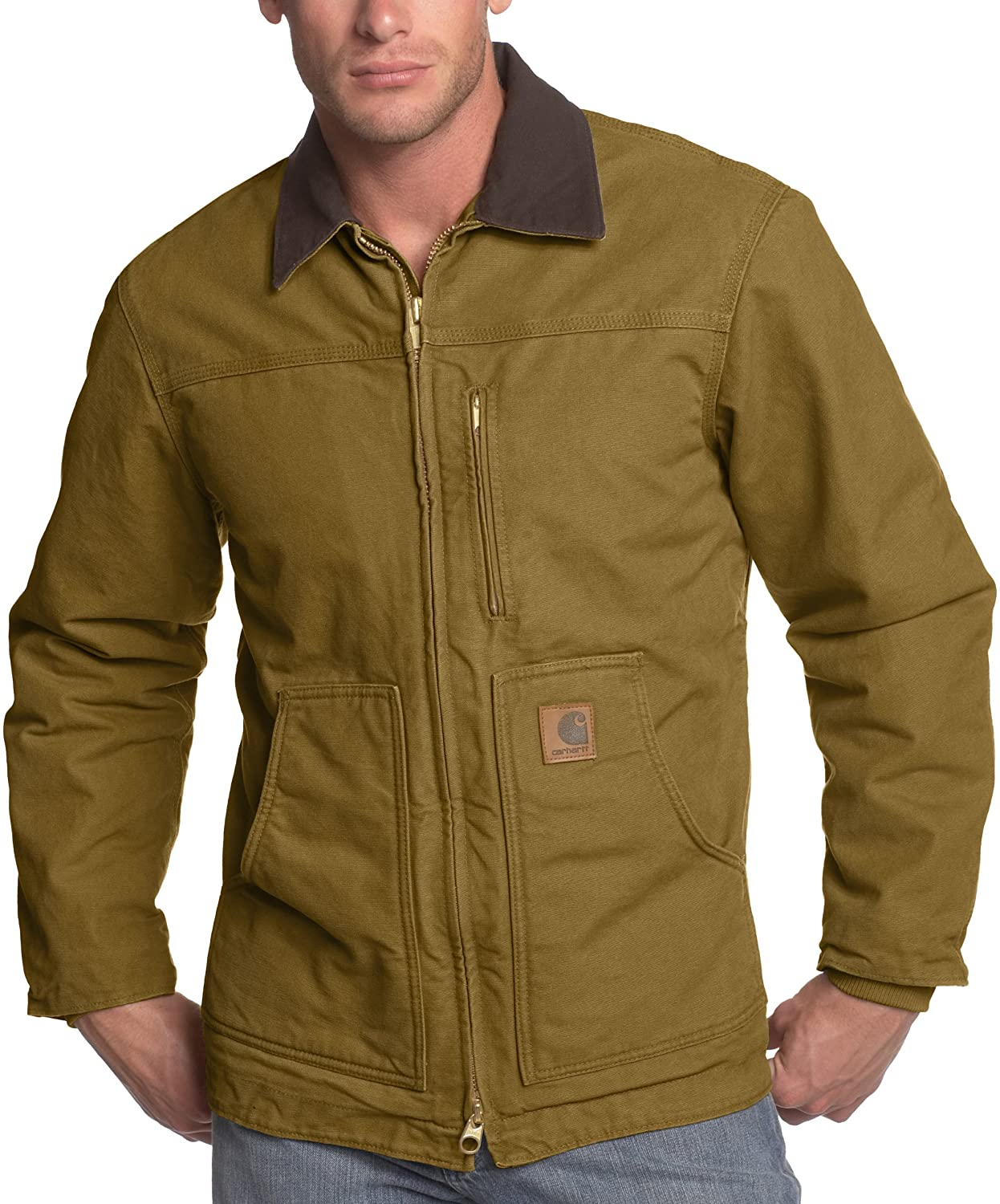 64f9f883d43f Carhartt Men s Ridge Coat Sherpa Lined Sandstone C61 at Amazon Men s ...