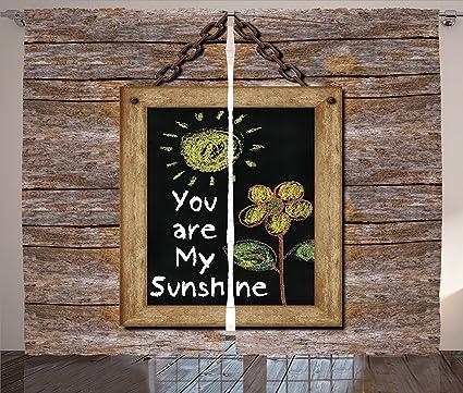 Citas decoración cocina cortinas amor frase con flores y ...