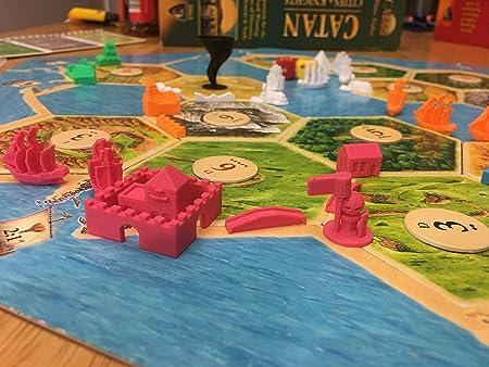 Diez talentos Trading Build3D Piezas de Repuesto para colonos de Ciudades catanas y Caballeros de expansión – Victoriano – Rosa: Amazon.es: Hogar