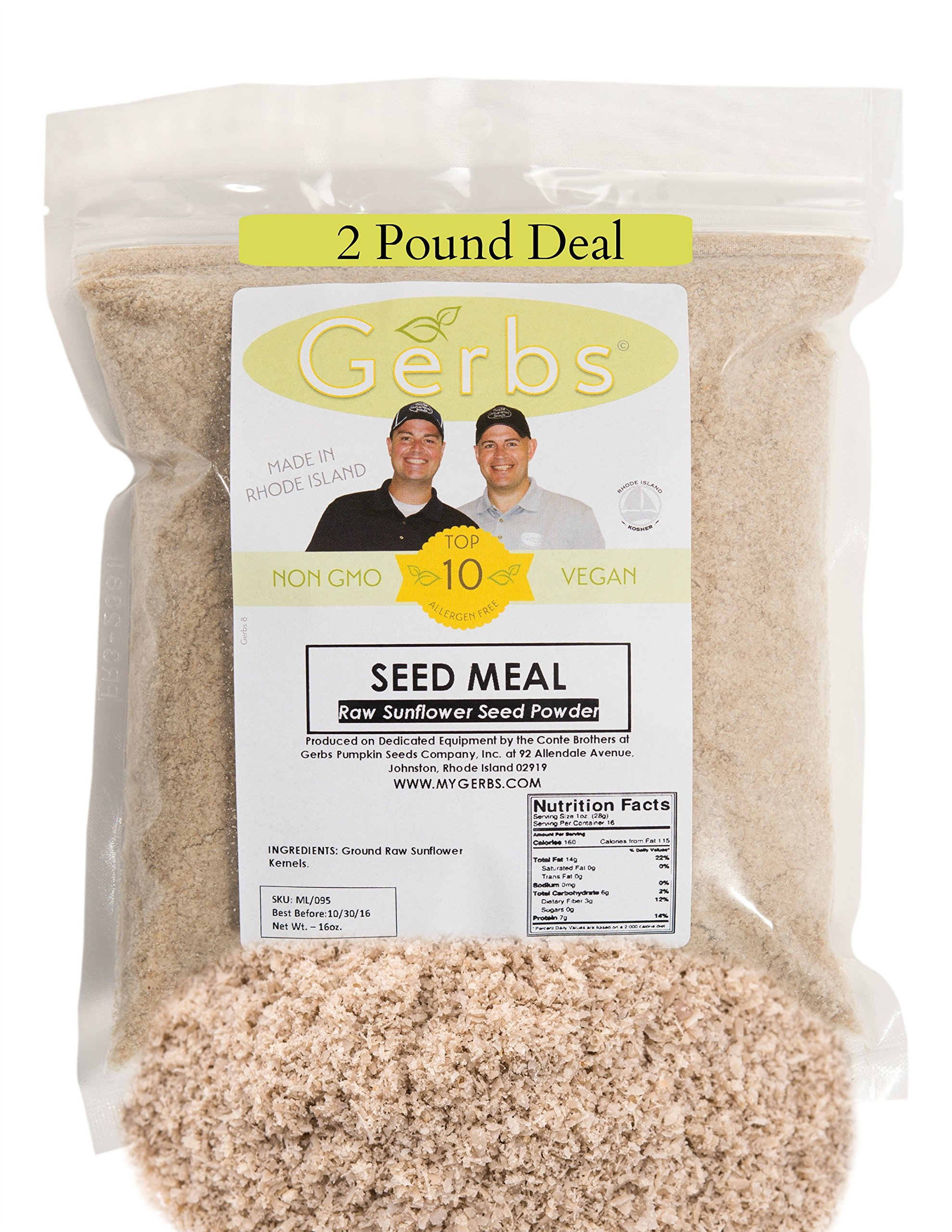 Khanapakana Coupons - Ground raw sunflower seed meal by gerbs 2 lbs top 11 food allergen friendly