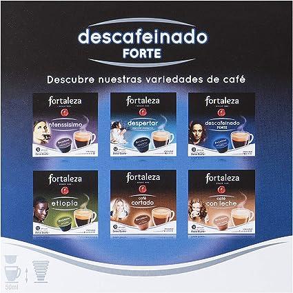 Café FORTALEZA - Cápsulas de Café Descafeinado Forte Compatibles con Dolce Gusto - Pack 4 x 12 - Total 48 cápsulas: Amazon.es: Alimentación y bebidas