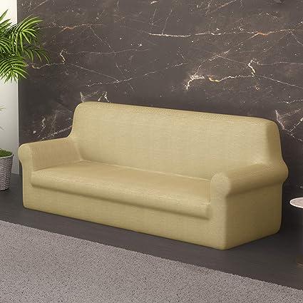 PETTI Artigiani Italiani Beige, Sofa Elasticas, Fundas para Sillones, 100% Made in Italy, Tela Lineal, (80 a 120 cm)