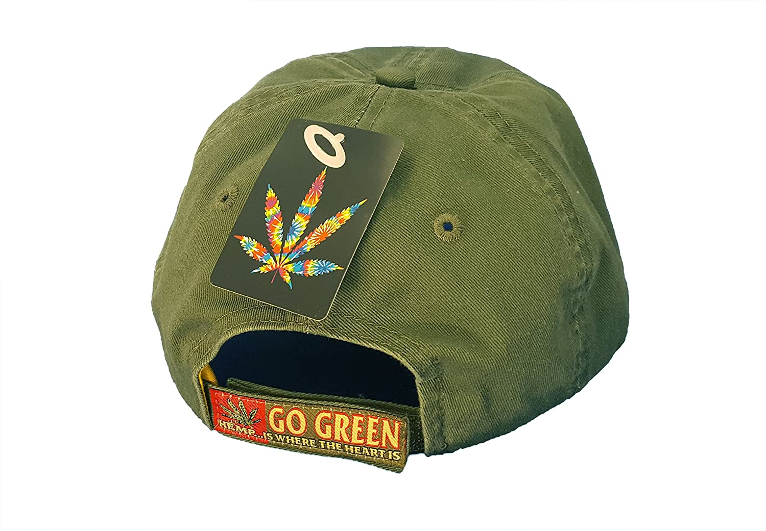1c4f7287be4c Amazon.com  Hemp is Where the Heart Is Weed Embroidered Ball Cap Hat Cotton  Blend Adjustable  Sports   Outdoors