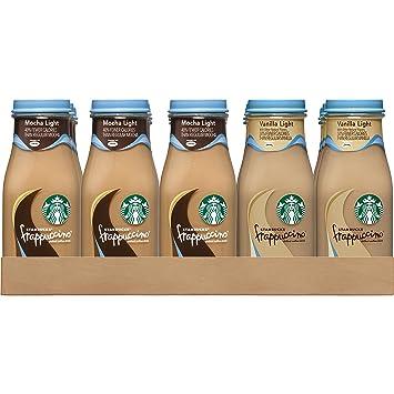 44d1a2529842 Starbucks Frappuccino Variety Pack, Mocha Light/Vanilla Light, 9.5 fl oz.  glass bottles (15 Pack)